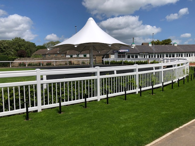 Catterick Parade Ring made with Duralock Crowd Barrier